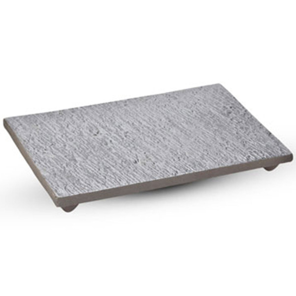 Image of Slate Design Black Footed Rectangular Plate 1
