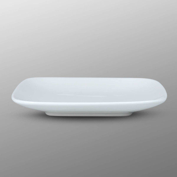 Image of Korin Durable White Rounded Square Plate 3