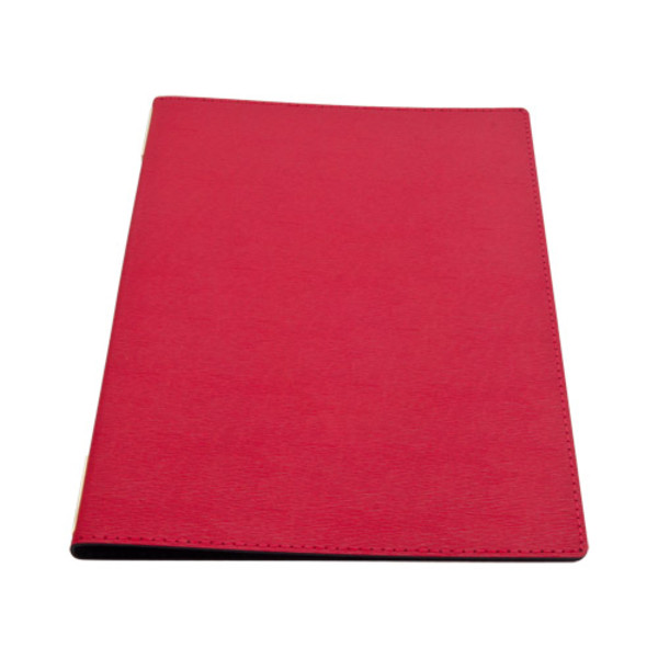 Image of Red Synthetic Leather Menu Cover 1