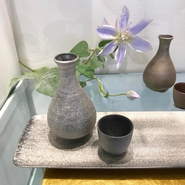 Image of Shusetsu Silver Sake Bottle 2