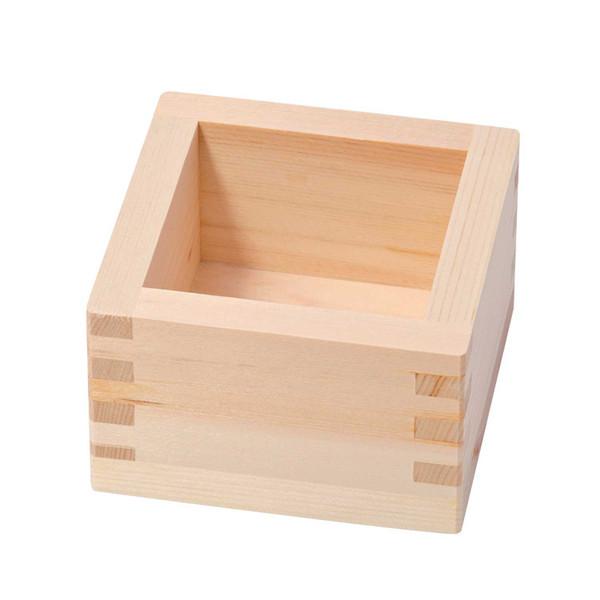 Image of Hinoki Wood Sake Box