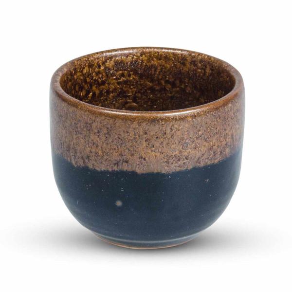 Image of Tenmoku Kinkessho Brown Sake Cup 1