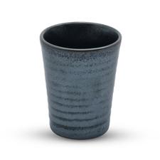Tessa Black Spiral Tall Sake Cup