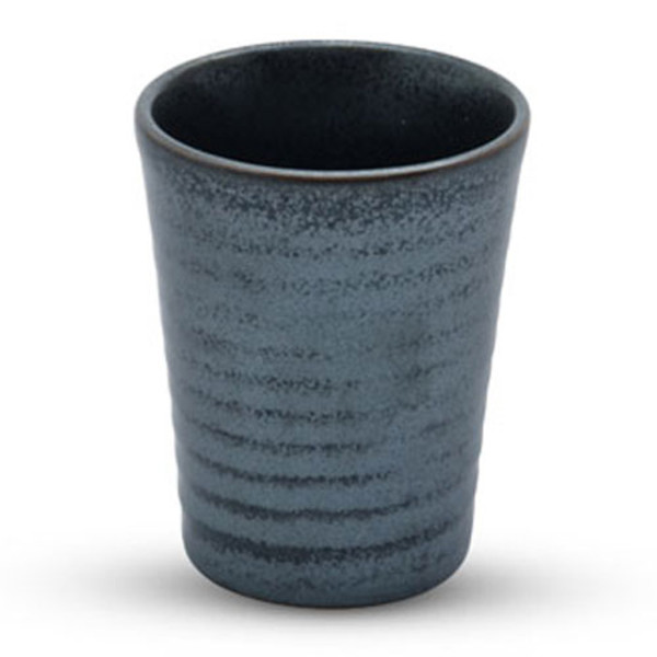 Image of Tessa Black Spiral Tall Sake Cup