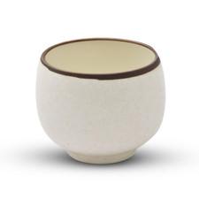 Beige Textured Sake Cup