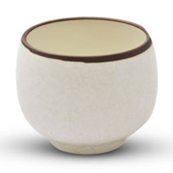 Image of Beige Textured Sake Cup