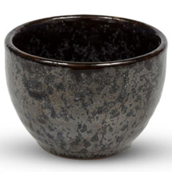 Image of Black Gradient Round Sake Cup 1