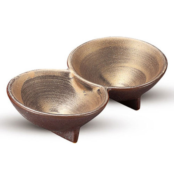Image of Shusetsu Gold 2 Divided Sauce Dish