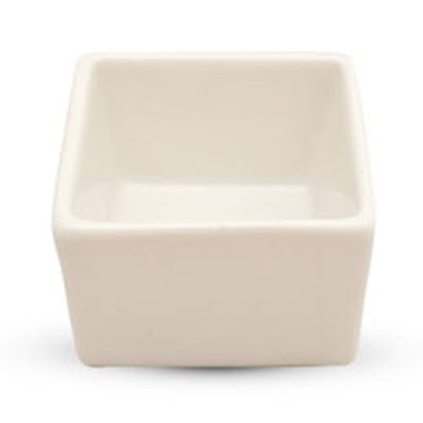 Image of White Square Dipping Dish