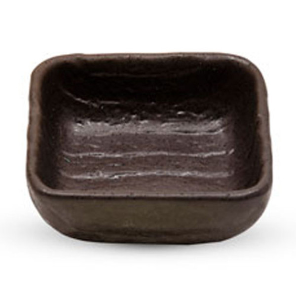 Image of Gray Nanban Square Sauce Dish 1