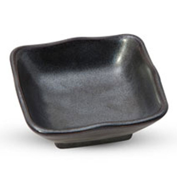 Image of Tessa Black Square Sauce Dish