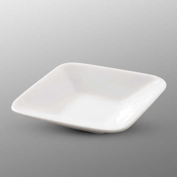 Image of Korin Durable White Rhombus Sauce Dish
