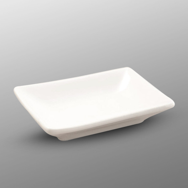 Image of Korin Durable White Rectangular Sauce Dish