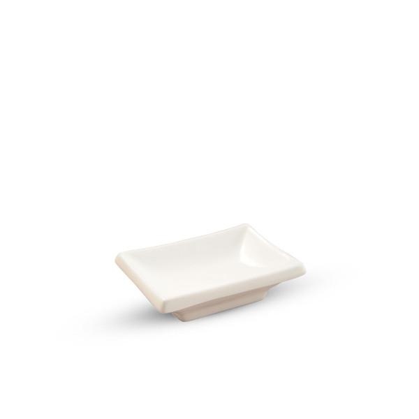 Image of Korin Durable White Rectangular Sauce Dish