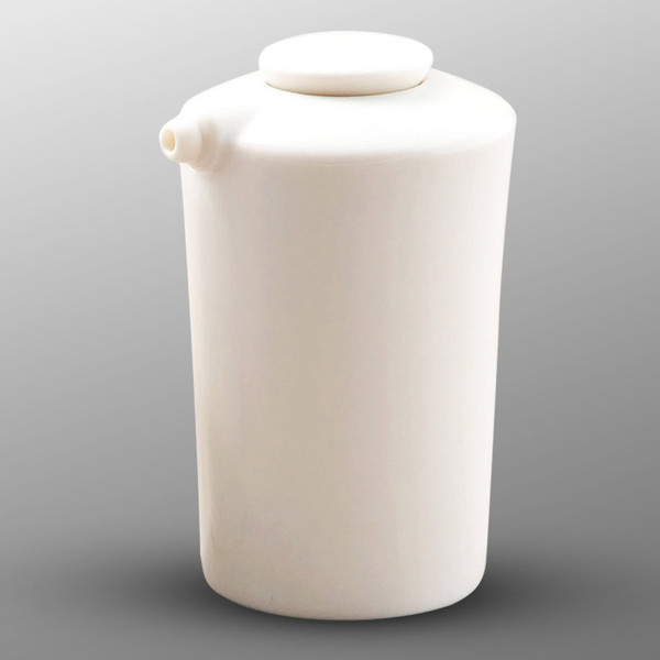 Image of White Sauce Pot with Silicone Lid - Large