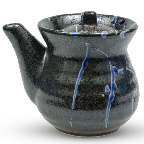 Image of Black Kessho Sauce Pot 1