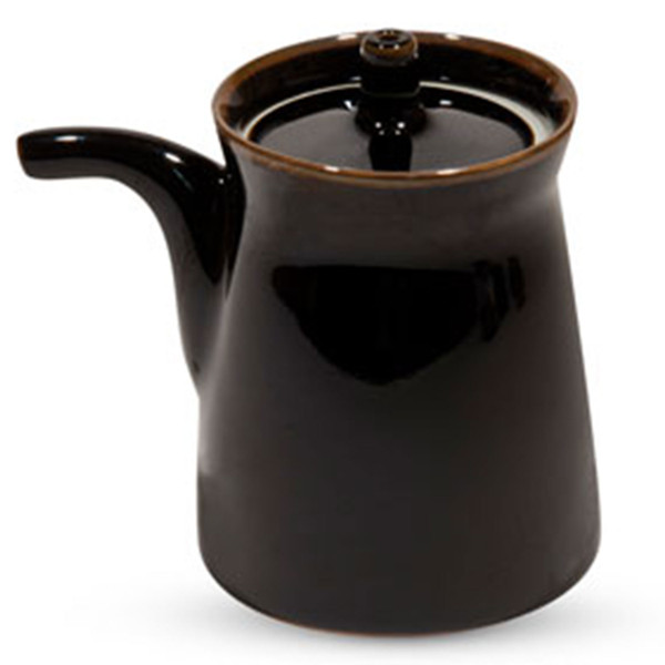 Image of Black Porcelain Sauce Pot