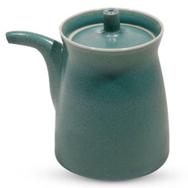 Image of Matte Green Porcelain Sauce Pot