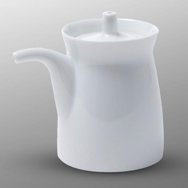 Image of White Porcelain Sauce Pot