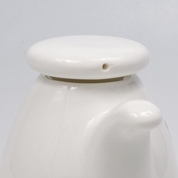 Image of Korin Durable White Round Sauce Pot with Silicone Lid 2