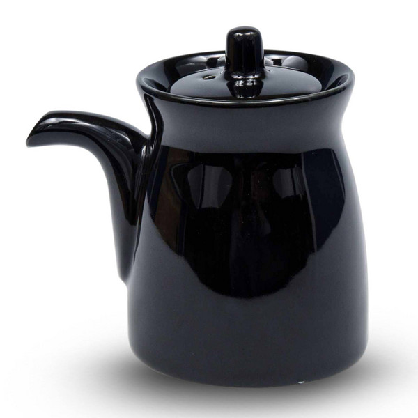 Image of Korin Durable Black Sauce Pot with Silicone Lid 1