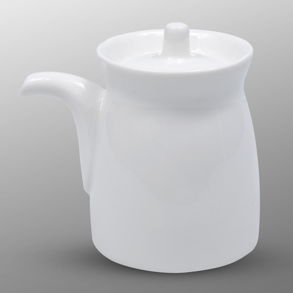 Image of Korin Durable White Sauce Pot with Silicone Lid 1