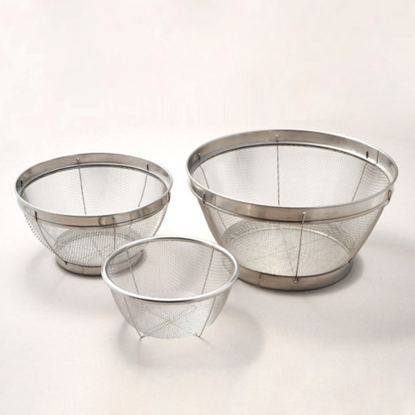 Image of 3 Pieces Stainless Mesh Colander Set