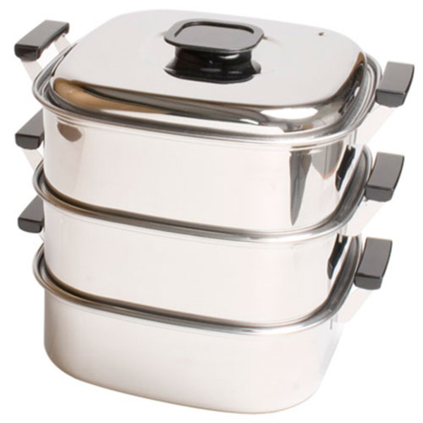 Image of 3 Tier Stainless Steamer