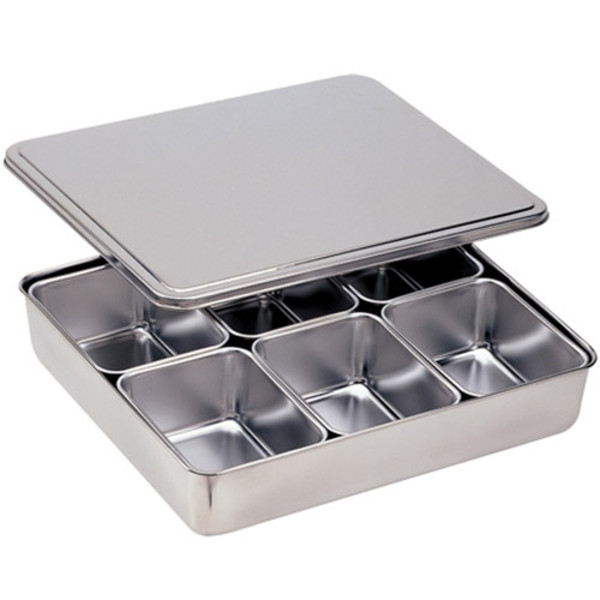Image of Stainless Yakumi Pan - 6 compartments