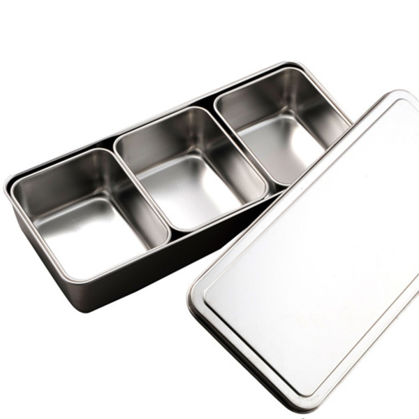 Image of Stainless Yakumi Pan - 3 compartments