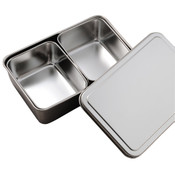 Stainless Yakumi Container Pan - 2 Compartments