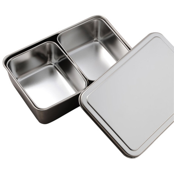 Image of Stainless Yakumi Container Pan - 2 Compartments