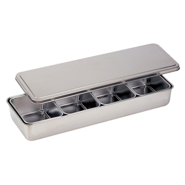 Image of Stainless Yakumi Pan - 4 compartments