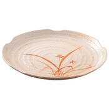 Gold Orchid Melamine Plastic Zen Plate (Price By DZ)