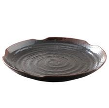 Tenmoku Melamine Plastic Lotus Shape Plate (Price By DZ)