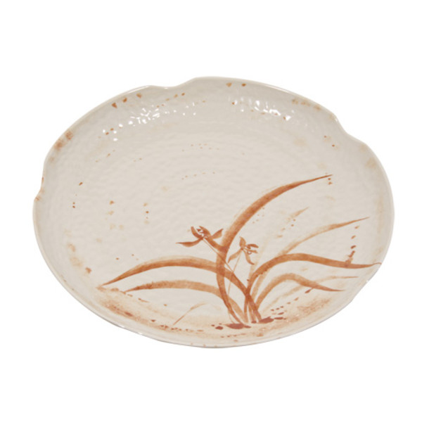 Image of Gold Orchid Melamine Plastic Round Platter Ripple (Price By DZ)