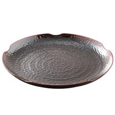 Tenmoku Melamine Plastic Round Platter Ripple (Price By DZ)