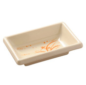 Gold Orchid Melamine Plastic Square Sauce Dish (Price By DZ)