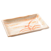 Gold Orchid Melamine Plastic Tempura Plate (Price By DZ)
