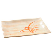 Gold Orchid Melamine Plastic Wave Sashimi Tempura Plate (Price By DZ)