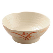 Gold Orchid Melamine Plastic Soup Bowl Ripple (Price By DZ)