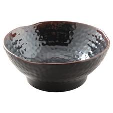 Tenmoku Melamine Plastic Soup Bowl Ripple (Price By DZ)