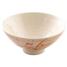 Gold Orchid Melamine Plastic Donburi Rice Bowl (Price By DZ)