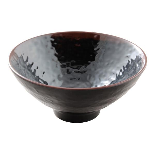 Image of Tenmoku Melamine Plastic Donburi Rice Bowl (Price By DZ)