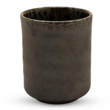 Silver Black Granite Teacup