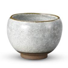 Awayuki Gray Short Round Tea Cup