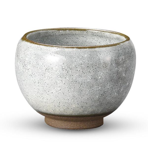 Image of Awayuki Gray Short Round Tea Cup