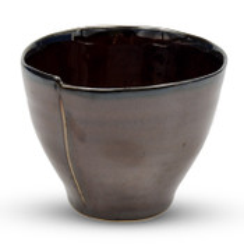 Amber Brown Tea Cup