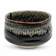 Wabi Black Round Matcha Bowl