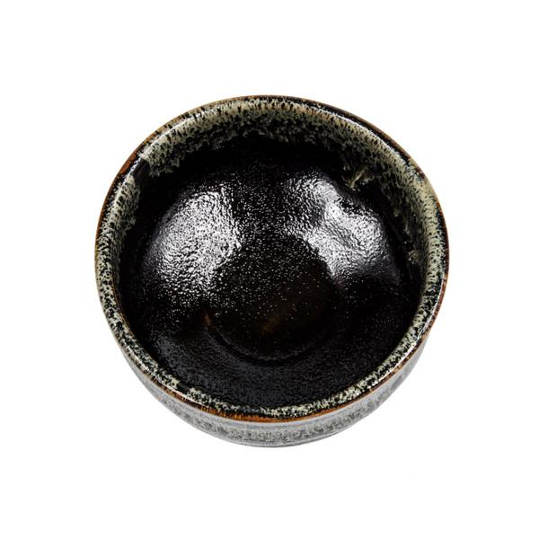 Image of Wabi Black Round Matcha Bowl 2